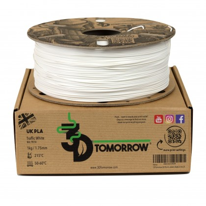 3DTomorrow UK PLA – 3D Printer Filament, 1kg, 1.75mm