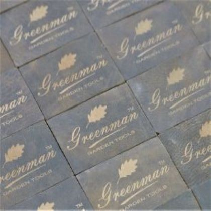 Laser engraved leather branded tags
