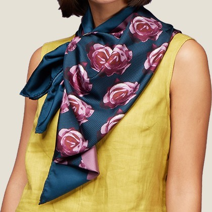 Field of Roses Pure Silk Scarf