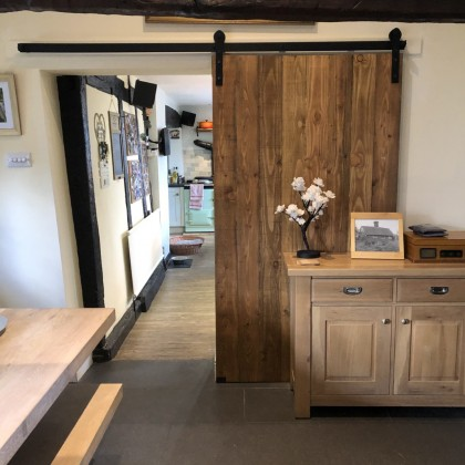 The Gainesville Single Sliding Barn Door System
