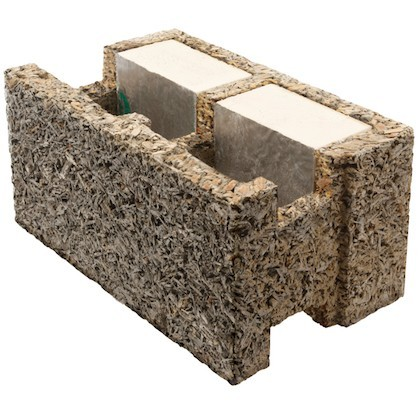 Woodcrete insulated concrete formwork (ICF)