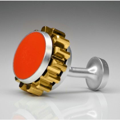 Involute MK1 Bespoke Cufflink - Aerospace Orange