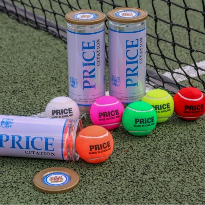 Price Citation Coloured Tennis Balls Limited Edition - Pressurised