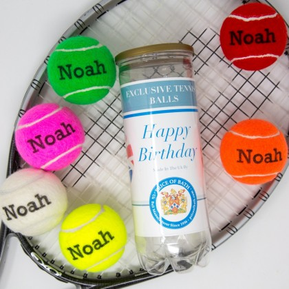 Personalised Coloured Tennis Balls