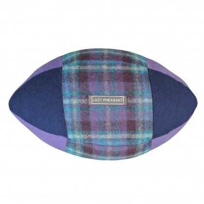 """Lazy Lineout"" Rugby Ball Cushion - Thistle"
