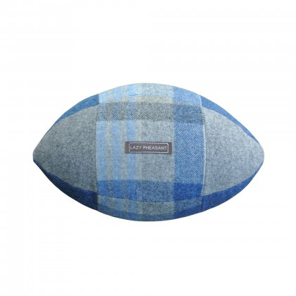 """Lazy Lineout"" Rugby Ball Cushion - Blues"