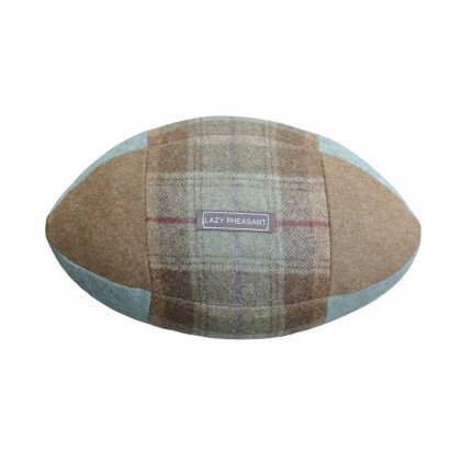 """Lazy Lineout"" Rugby Ball Cushion - Hampton"