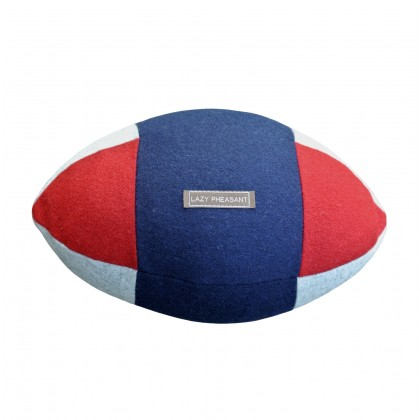 """Lazy Lineout"" Rugby Ball Cushion - Union Jack"