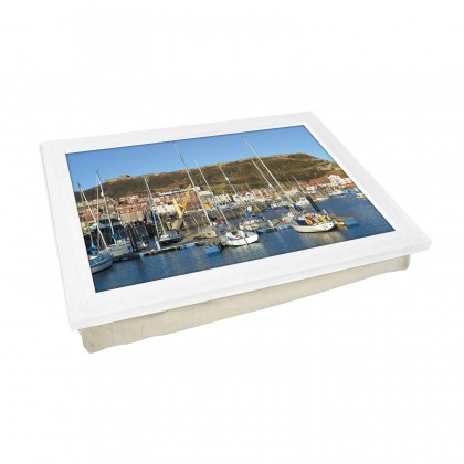 Scarborough, England Wood Frame Padded Lap Tray