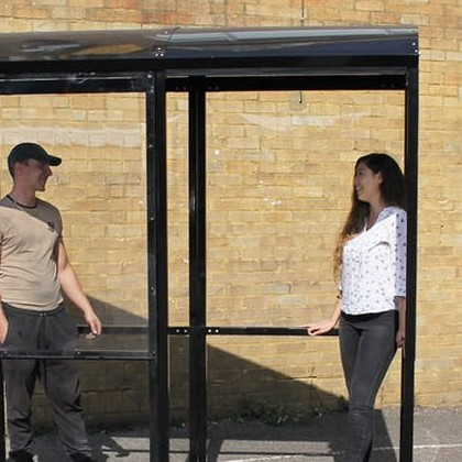 Domed 4-Sided Smoking Shelter With Aluminium Roof