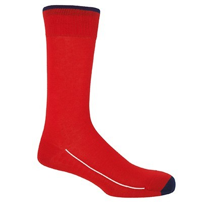 Square Mile Men's Socks - Cinnabar