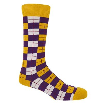 Checkmate Men's Socks - Gold