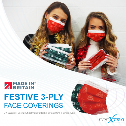 Festive 3-Ply Face Coverings