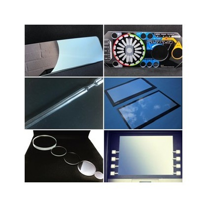 Industrial glass, glass used principally for aerospace,  medical, lighting, scientific, optical and other engineering applications.