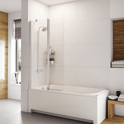 Haven Inward Folding Bath Screen