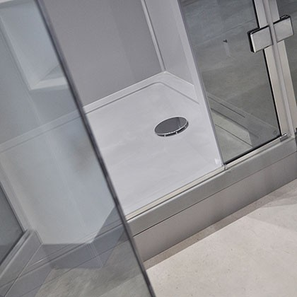 Matt White Anti-Slip Shower Tray