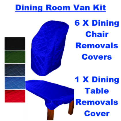 Dining Room Removals Covers Van Kit - 6 Chairs & 1 Table - ROQSOLID DefendaGuard
