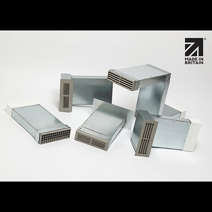 Rytons A1 Fire-rated Ducting Kits 204mm x 60mm with Single Air Brick Grilles