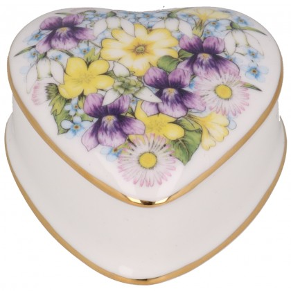 Spring Flowers Trinket Box