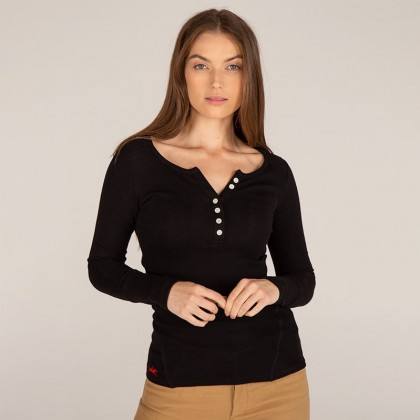 Evie - Women's Ribbed Long Sleeve Top