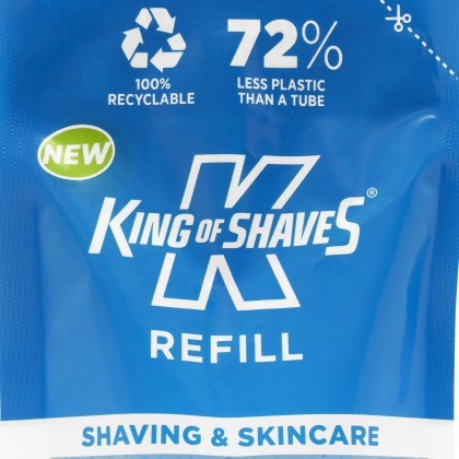 King of Shaves Sensitive Shave Gel Refill with Aloe & Tea Tree 200ml