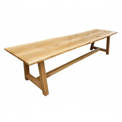 TF188 Solid Oak table with waney edged top