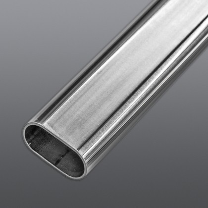 Flat-sided oval tube