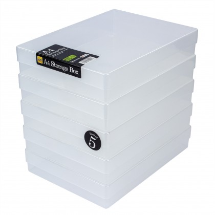 WestonBoxes A4 Plastic Storage Box