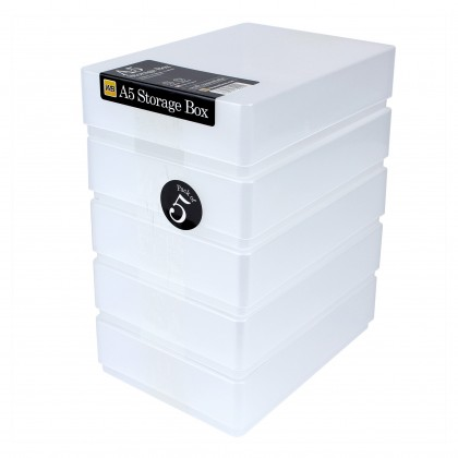 WestonBoxes A5 Plastic Storage Box
