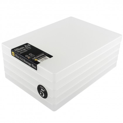 WestonBoxes Slim A4 Storage Box