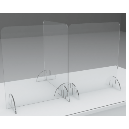 Linkable Desk Divider Protective Screens